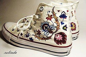 Obuv - Svatební Converse - malba na vlastní boty - 7958374_