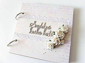 Papiernictvo - svadobná kniha hostí - 7954778_