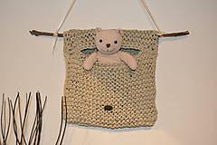 Úžitkový textil - Závesné vrecúško Šušu - 7956490_