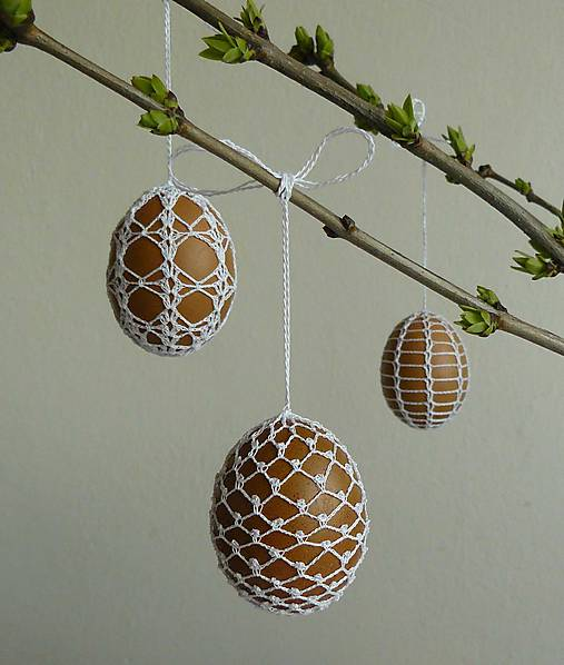 Dekorácie - Vajíčka hnedé - 7956156_