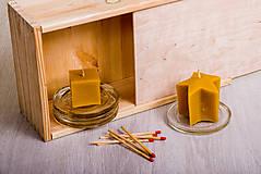 - Včelí kRAJ: Sviečka z včelieho vosku - 7958091_
