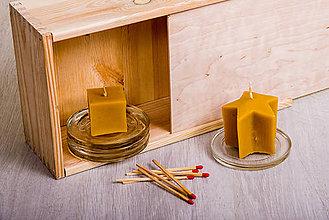 Svietidlá a sviečky - Včelí kRAJ: Sviečka z včelieho vosku - 7958091_