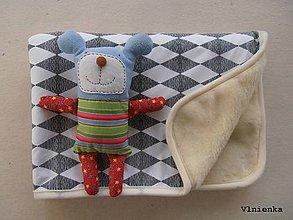 Textil - Ovčie rúno deka 100% MERINO TOP s kašmírom Black and white - 7956162_