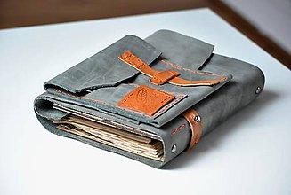 Papiernictvo - kožený zápisník Travel bag z kolekcie GREENHORN - 7956797_