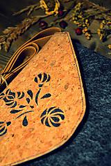 Kabelky - Korková ľudová mini - 7958378_