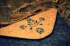 Kabelky - Korková ľudová mini - 7958379_