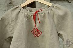 Detské oblečenie - Košieľka dievčenská ľanová Milanka - 7954784_