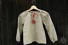 Detské oblečenie - Košieľka dievčenská ľanová Milanka - 7954785_