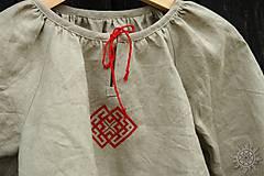 Detské oblečenie - Košieľka dievčenská ľanová Milanka - 7954786_