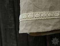 Detské oblečenie - Šaty dievčenské ľanové Vierka - 7954946_