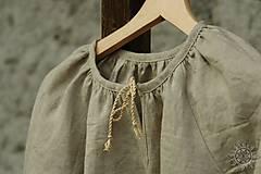 Detské oblečenie - Šaty dievčenské ľanové Vierka - 7954949_