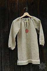 Detské oblečenie - Šaty dievčenské ľanové Vierka - 7954951_