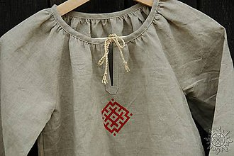 Detské oblečenie - Šaty dievčenské ľanové Vierka - 7954947_