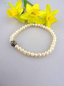 Náramky - pravé perly turmalín náramok - elegancia - 7958422_