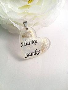 Iné šperky - Živicový osobný prívesok s Vašim textom - 7958301_