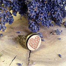 Prstene - Prsteň Bodkované srdce - 7956515_