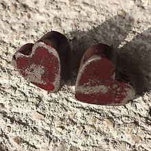Náušnice - Betónky Hearts Art 01 (srdce) - 7958095_