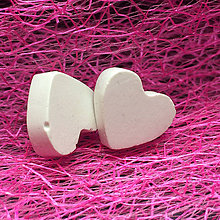 Náušnice - Betónky Hearts white 01 (srdce) - 7958231_