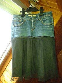 Sukne - Trendy rifľová sukňa - 7954688_