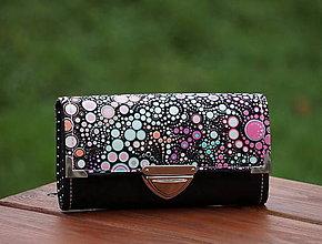 Peňaženky - Peněženka bubliny 19x10cm, 18 karet, na fotky - 7955381_