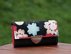 Peňaženky - Peněženka kytka 19x10cm, 14 karet, na fotky - 7955776_