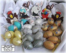 Dekorácie - Velkonočné vajíčka,sliepky,zajačiky-mix :) - 7957269_