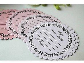 Papiernictvo - Kartičky - svadobná rada - 7958506_