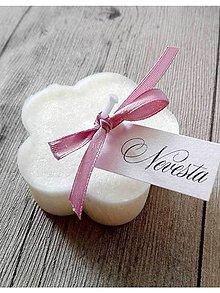 Svietidlá a sviečky - sviečka mini kvietok menovka - 7958633_