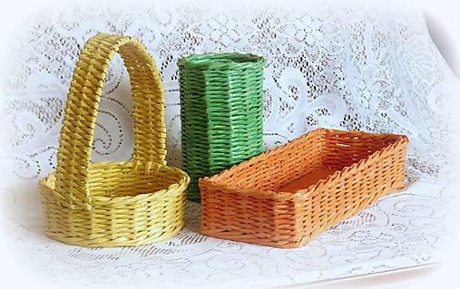 9d4b9a13d Košíky na veľkonočné dekorácie (38 x 12 výška 8 - Žltá) / BySong ...