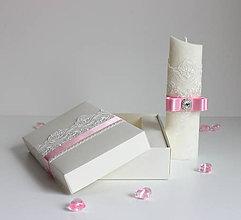 Svietidlá a sviečky - Sviečka na krst sweet baby ružová. - 7954754_