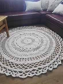 Úžitkový textil - Hačkovaný koberec - 7958388_