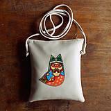 Na tablet - Sova - kožená crossbody taška - 7958564_
