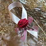 Darčeky pre svadobčanov - Stužky na fľaše - 7956055_
