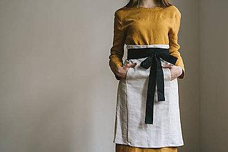 Iné oblečenie - hemp apron for her - 7955261_