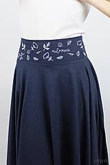 Sukne - Sukňa kruhová modrý melír dlhá - 7957102_