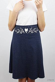 Sukne - Sukňa Ačková modrý melír krátka - 7957043_