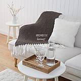 Úžitkový textil - Pletená deka so strapcami ... šedo-hnedá - 7960293_