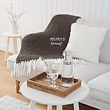 Úžitkový textil - Pletená deka so strapcami ... šedo-hnedá - 7960299_