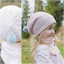 Detské čiapky - Prechodná homelles čiapka s brmbolčekom na šnúrke  - 7962652_