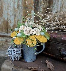 Dekorácie - Jarná dekorácia s vtáčikom - 7962325_