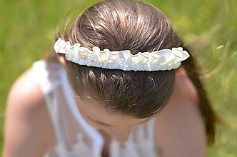 Ozdoby do vlasov - Saténová vlna - 7963415_