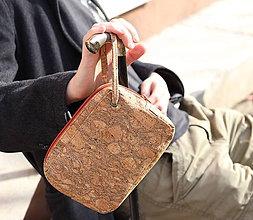 Tašky - Korková pánska taška na zápästie - 7962364_