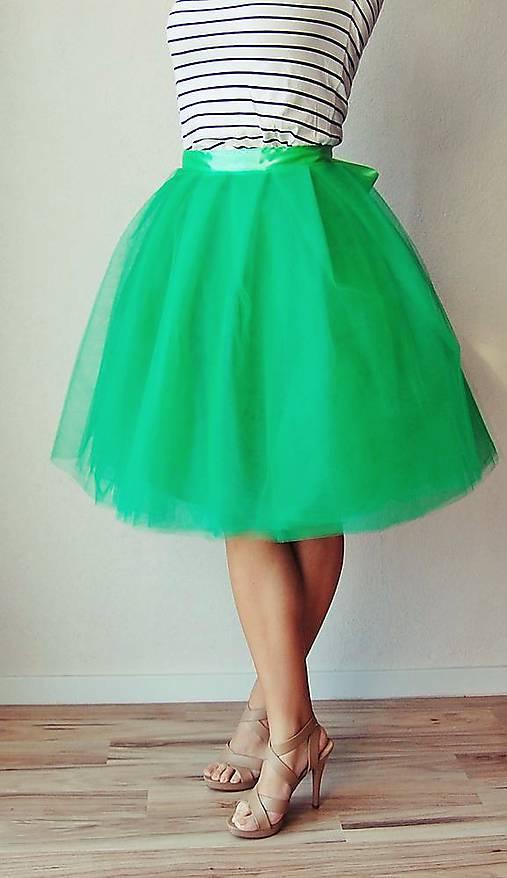 76febee35485 Tylová sukňa zelená   TinyThea - SAShE.sk - Handmade Sukne
