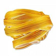 Galantéria - Hodvábna stuha Shibori Ecru Gold Žltá - 7961164_