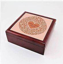Krabičky - Krabička aj na šperky drevená ornament srdce - 7963237_