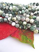 Minerály - achát zelený korálky 10mm - 7960111_