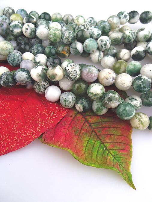 achát zelený korálky 10mm