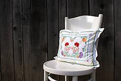 Úžitkový textil - Obliečka na vankúš s ručne vyšívaným vzorom - 7959994_