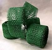 Galantéria - Jutová stuha zelená 3 m-akcia - 7960410_