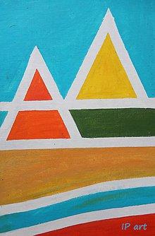Obrazy - Dve pyramidy - 7959227_